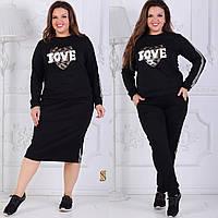 Женский спортивный костюмНовинки больших размеров черный