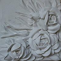 Панно барельеф Белые розы, фото 1