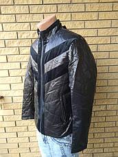 """Куртка мужская демисезонная стильная """"под кожу"""", есть большие размеры VIVO, Турция, фото 3"""