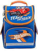 Школьный каркасный рюкзак Kite Education 34x26x13 см 11 л Hot Wheels для мальчиков (HW18-501S-2)