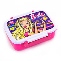 """Контейнер для їжі """"Barbie"""" 420 мл, з роздільником, фото 1"""