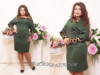 Платье женское замок на косую размеры 50,52,54