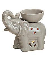Аромалампа Слон цветная керамика