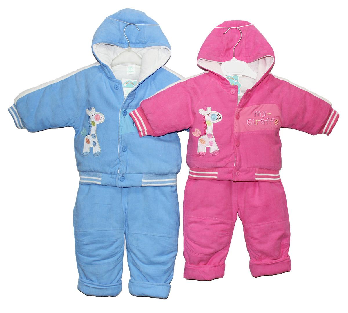 Костюм детский вельветовый утепленный синтепоном для мальчка и девочки. Кики комбинезон
