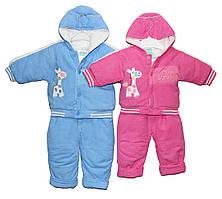 Костюм дитячий вельветовий утеплений синтепоном для мальчка і дівчатка. Кікі комбінезон