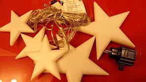 Новогодний занавес «звёзды», 35 led-диодов, 4 разных цвета свечения, электрическая гирлянда, 5 режимов, 220в