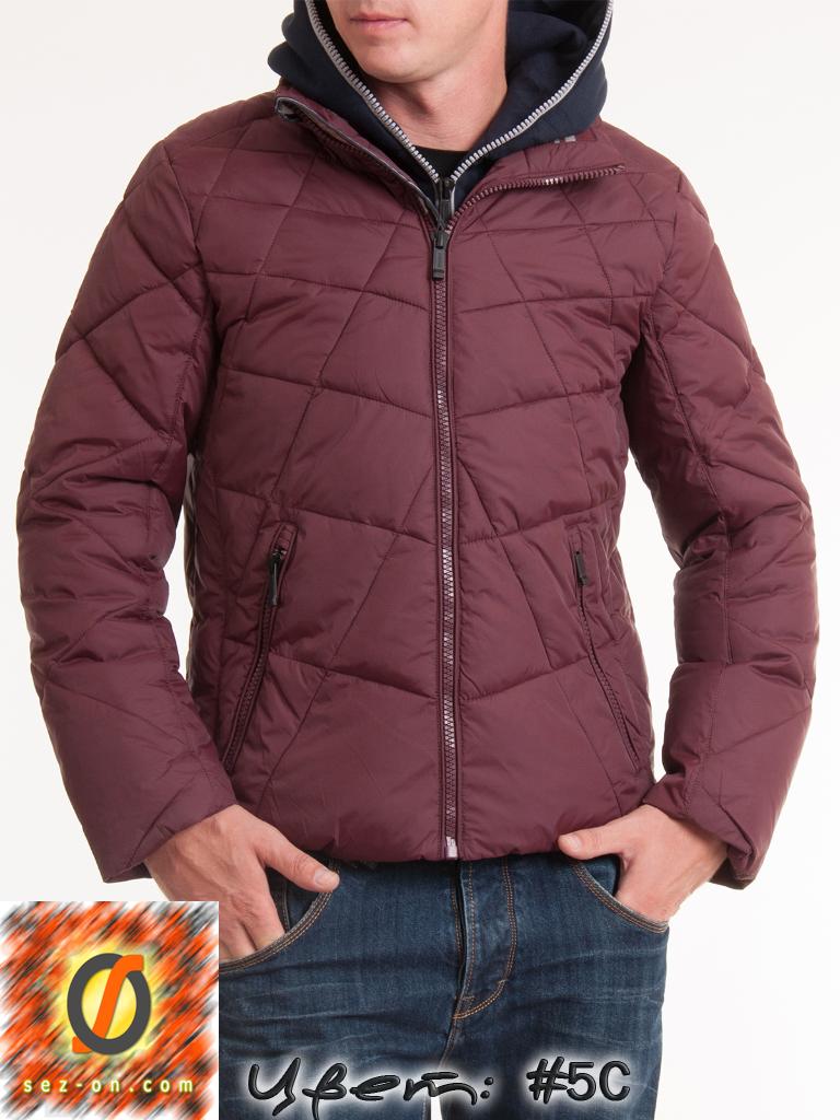 Куртка мужская молодежная Malidinu 14908 Тинсулейт Бордовый
