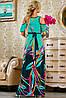 Яркое летнее платье в пол с принтом (2231-2232-2233 svt), фото 5