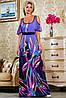 Яркое летнее платье в пол с принтом (2231-2232-2233 svt), фото 3