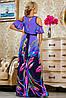 Яркое летнее платье в пол с принтом (2231-2232-2233 svt), фото 6