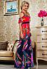 Яркое летнее платье в пол с принтом (2231-2232-2233 svt), фото 4