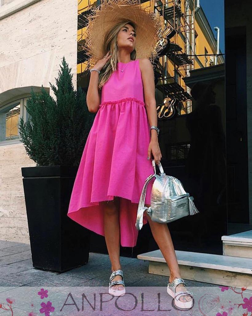 Платье сарафан очень свободное сзади длиннее