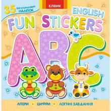 Fun stickers кн4 (35 багаторазових наліпок,розмал.,лабиринти,логічні завд) (у)