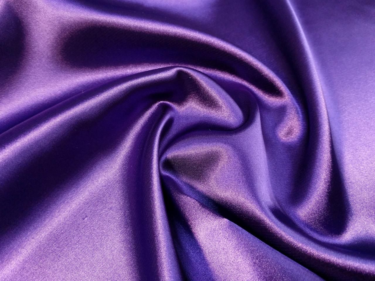 Атлас стрейчевый, фиолетовый
