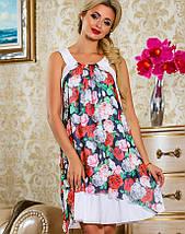 Женское летнее платье с цветами без рукавов (2240-2242 svt), фото 2