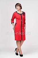 Платье Донателла, для празднования нового года, красное с черным