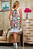 Женское летнее платье с цветами без рукавов (2240-2242 svt), фото 3