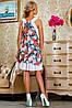 Женское летнее платье с цветами без рукавов (2240-2242 svt), фото 4