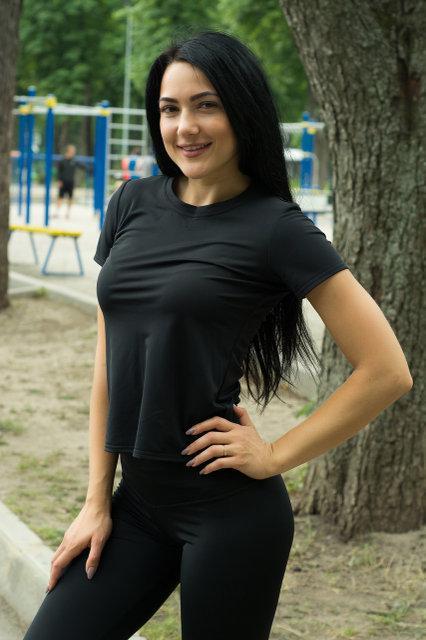 Футболка Женская спортивная футболка Sport Girl Black
