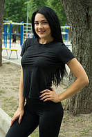 Футболка Женская спортивная футболка Sport Girl Black, фото 1