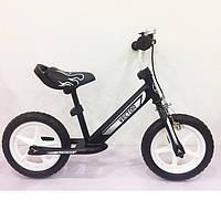 Велобег для ребенка, Беговел BALANCE TILLY 12 Vector T-21256 Graphite, Детский беговел на EVA колёсах
