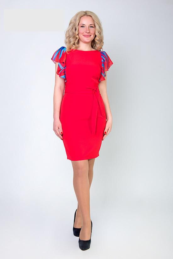 Элегантное женское красное платье