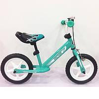 Беговел детский BALANCE TILLY Vector T-21256 Turquoise, Велобег 12 дюймов, Безпедальный велосипед