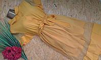 Платье Сафари с фатиновой юбкой 1810 желтый  46-50р