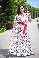 Красивое длинное платье макси штапельное большого размера