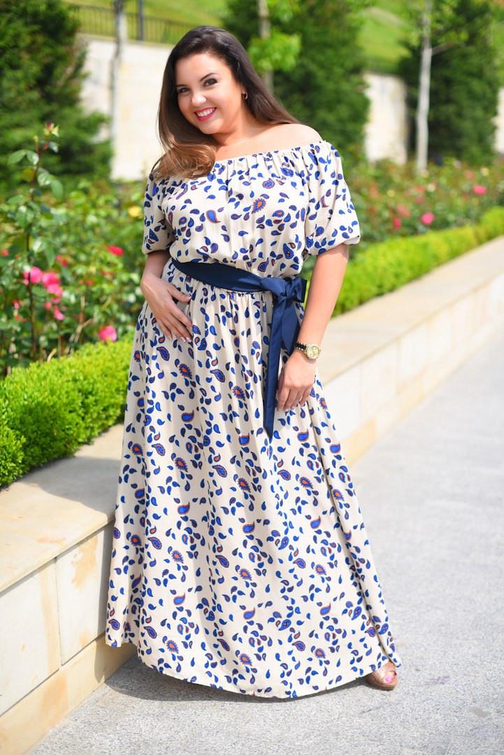 1917ed59e74 Красивое Длинное Платье Макси Штапельное Большого Размера — в Категории