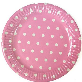 Тарелка Горох на розовом