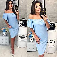 Новинка! Платье на резинке ( арт. 114 ), ткань софт, цвет светло голубой