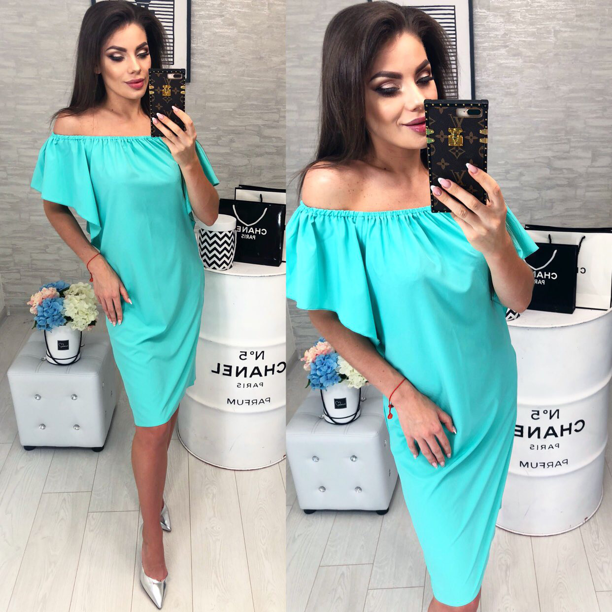 Стильне плаття, модель 114, колір Бірюзовий
