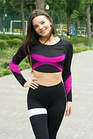 Топ Geometria Black+Pink