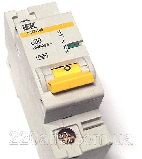 Автоматический выключатель ВА 47-100 1Р 80А С IEK