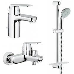 Набор смесителей для ванны и раковины Grohe Eurosmart Cosmopolitan 126111S