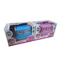 музыкальная игрушка детская  развивающий  игрушка BT-2221E  фургон мороженого, 2 цвета,  батарейки ,  музыкальная игрушка детская   в коробке