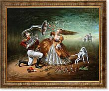 Репродукция  современной картины «Объяснение в любви» 60 х 75 см