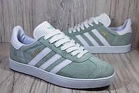 Adidas gazelle мятные  кеды, кроссовки унисекс, фото 1