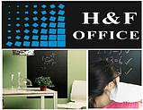 Чёрная меловая пленка H&F Office для рисования 60*200 см. + 5 разноцветных мелков, фото 2