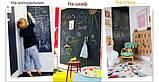 Чёрная меловая пленка H&F Office для рисования 60*200 см. + 5 разноцветных мелков, фото 7
