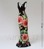 Фарфоровая напольная ваза Pavone Платье 60 см JP-156/10