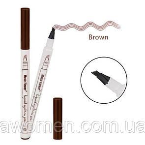 Маркер для брів Fine Sketch Music Flower 1 ml № 2 (Brown)