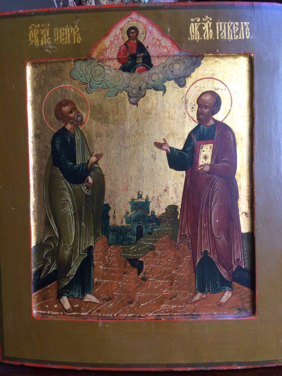 Икона Св. Пётр и Павел XIX век