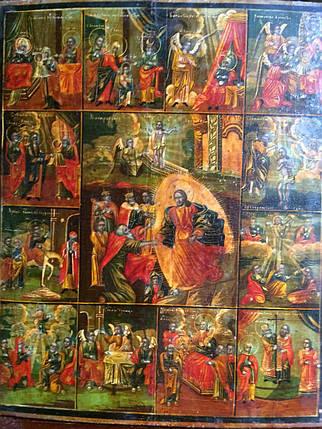 Икона  Праздники Углич 19 век, фото 2