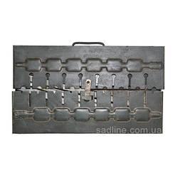 Мангал-чемодан на 10 шампуров (1.5 мм)