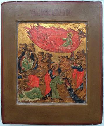 Икона Восхождение Ильи Пророка 19 век Палех, фото 2