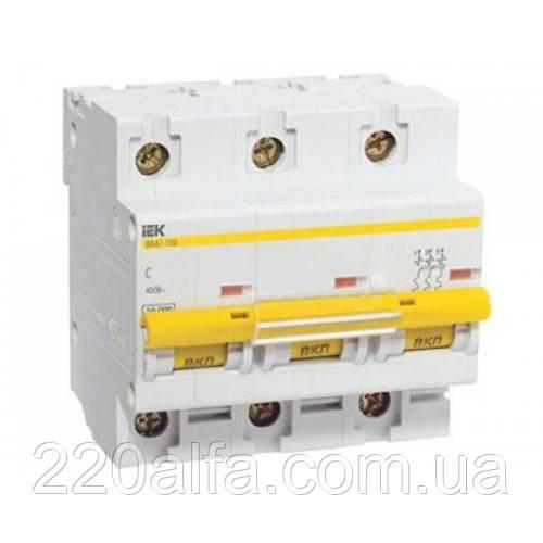 Автоматический выключатель ВА 47-100 3Р 100А С IEK