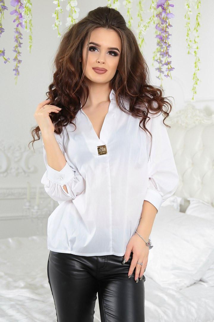 f18d9fd214f Стильная женская блуза-рубашка белая  продажа
