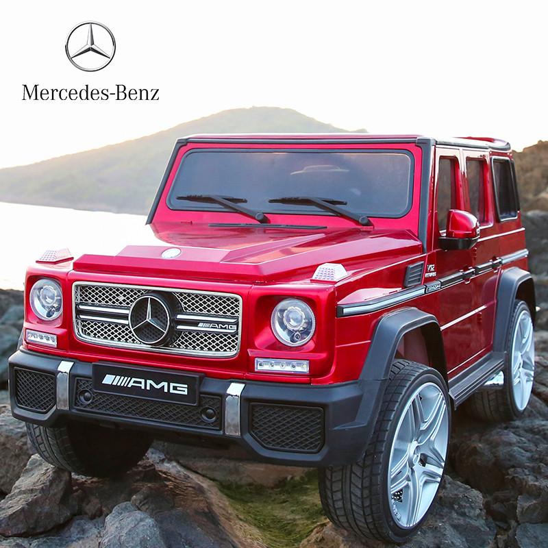 Детский электромобиль Mercedes G65 VIP: 90W, 2.4G, EVA-колеса, эко-кожа - BORDO - купить оптом